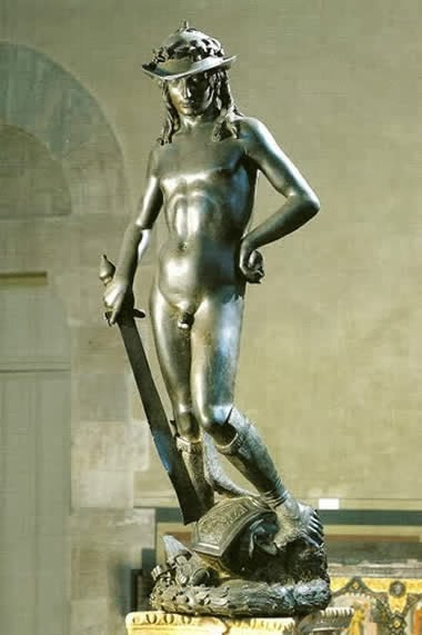 Donatello's David in the Bargello, Florence, Italy