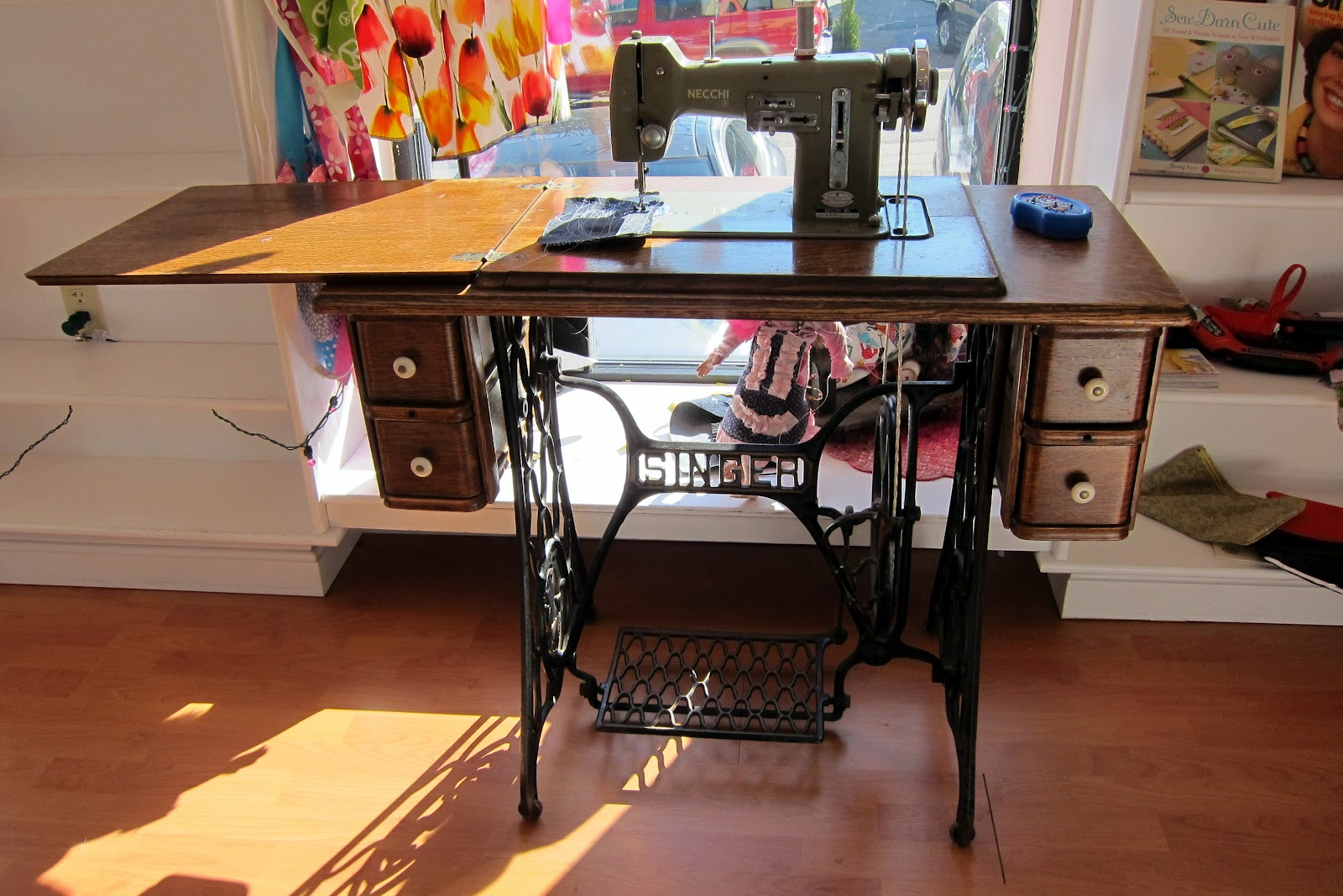 Briansews 2012 Necchi Supernova Sewing Machine Threading Diagram Vintage Im In The Mood Its My Go To For I Was A Little Disappointed Find That Treadle Is Very Slow At Least On Table Like This