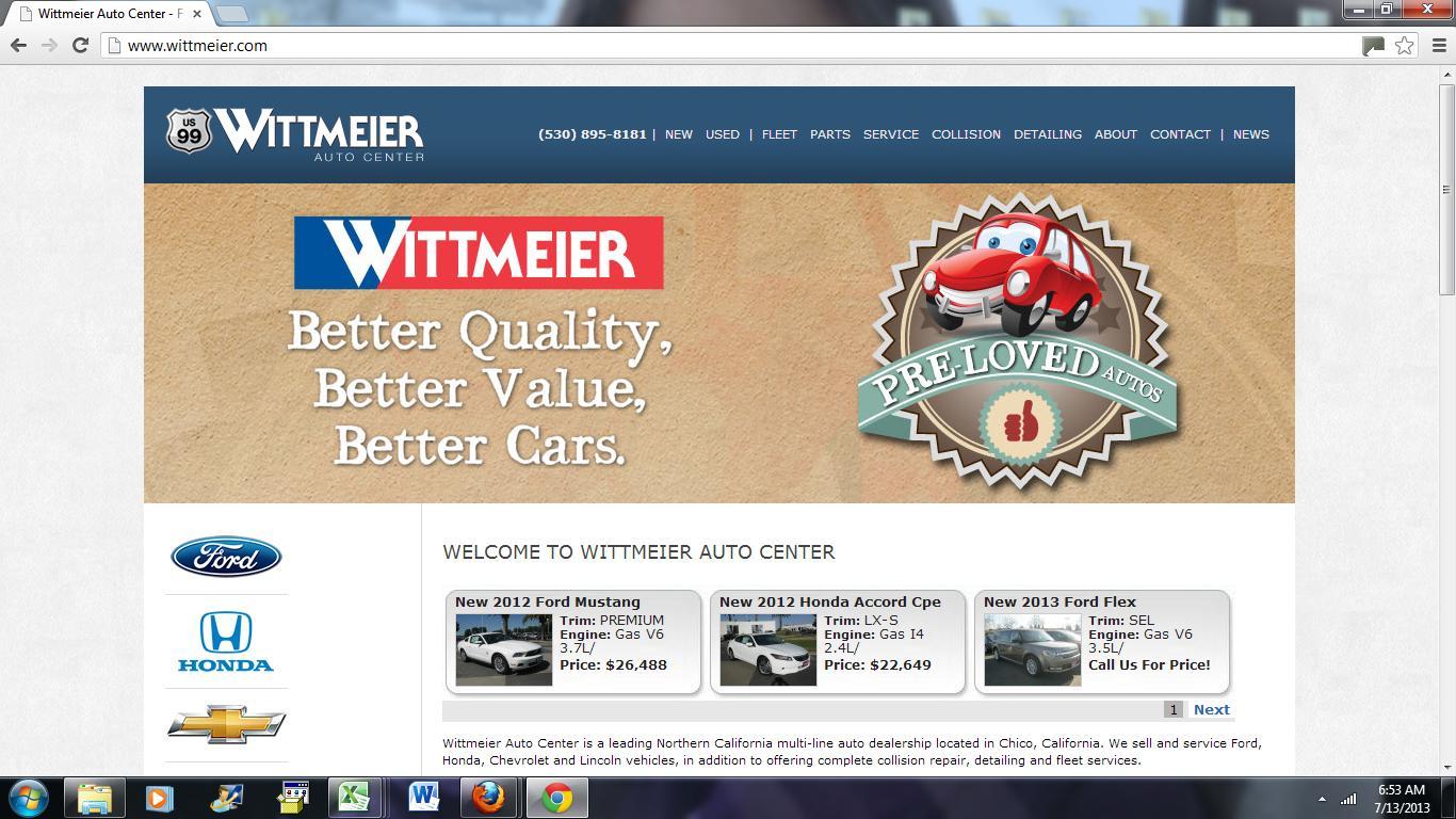 Harbor truck bodies blog wittmeier auto center a harbor for Honda dealership chico ca