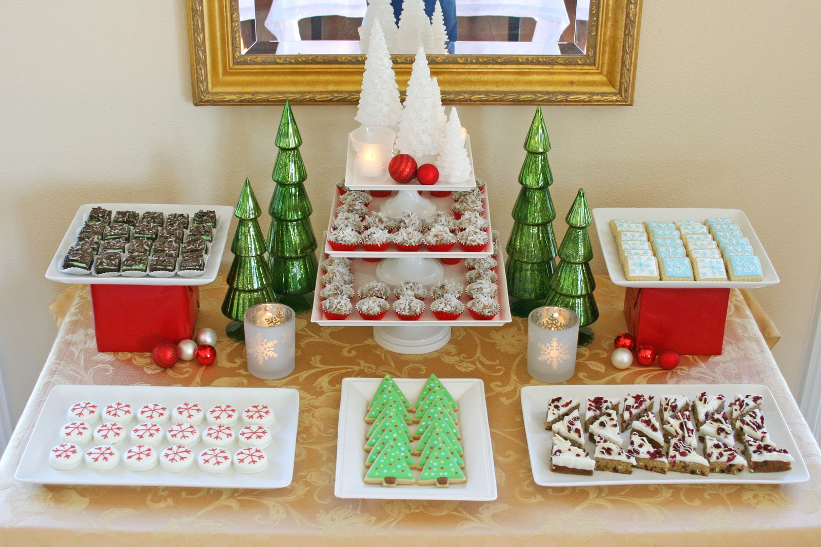 Christmas Dessert Party Ideas Part - 39: Classic Holiday Dessert Table