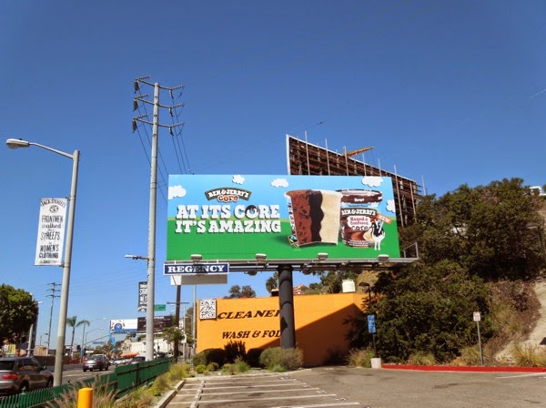 Ben Jerry's core amazing billboard