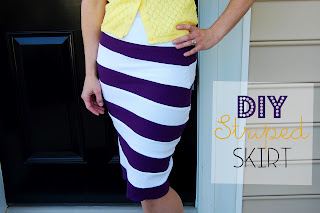{Knock-off} Striped Skirt from Southern Lovely