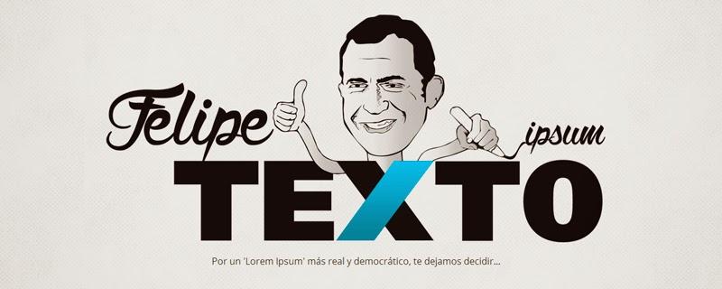FelipeTexto, por un 'Lorem Ipsum' más real y democrático