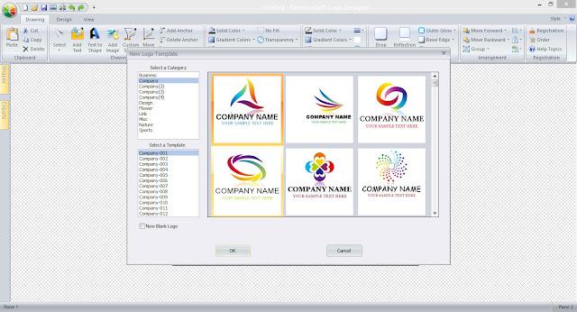 Program to design a logo