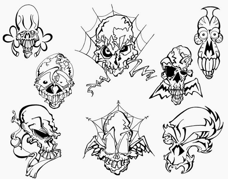 Skull Line Drawing Tattoo : Top tribal skull tattoo of jere
