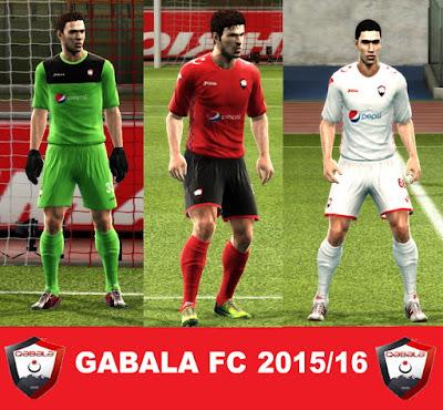 PES 2013 GABALA FC 2015/16 KITS by argy
