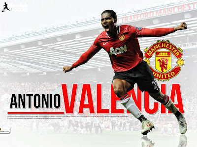 Wallpapers Antonio Valencia Manchester United (MU) 2012-2013