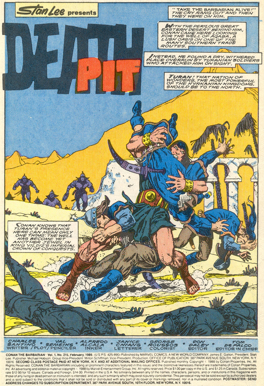 Conan the Barbarian (1970) Issue #215 #227 - English 2