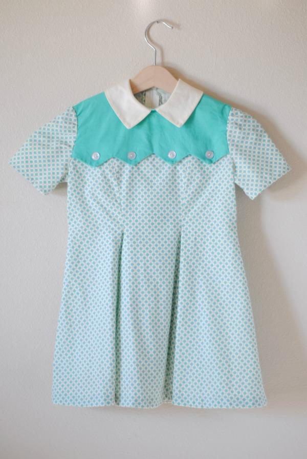 hart + sew | Vintage Baby Clothing: made: 1950\'s jagged yoke dress