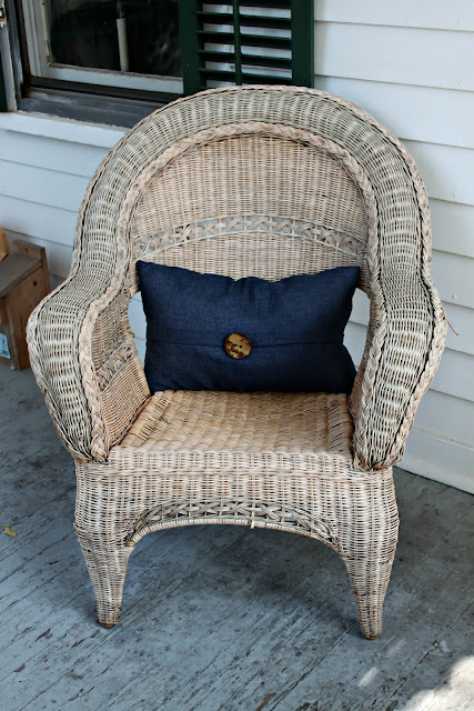 Papered House_wicker armchair