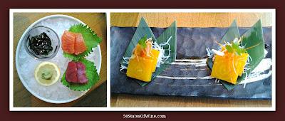 Roka Akor Chicago Sashimi and Golden Beets