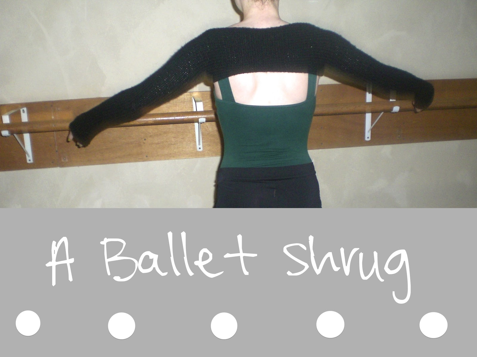 100% Made By Me: Ballet Shrug FREE Pattern