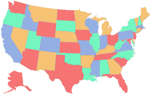 States I've ridden in
