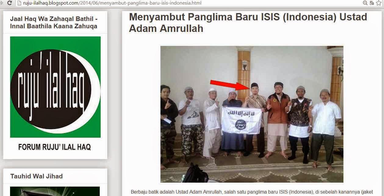 Peruqyah Trans 7 Ini Menyabut Dirinya Panglima ISIS Indonesia