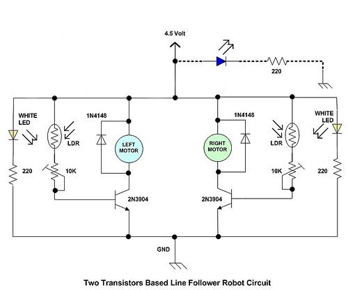 robotech my first robot line follower without a microcontroller rh napstervab robotech blogspot com