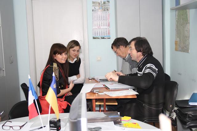Представники Федерації обмінів Франція-Україна у МДАУ. Співбесіда.