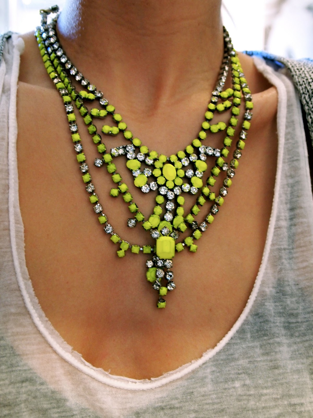 diy neon statement necklace - photo #3