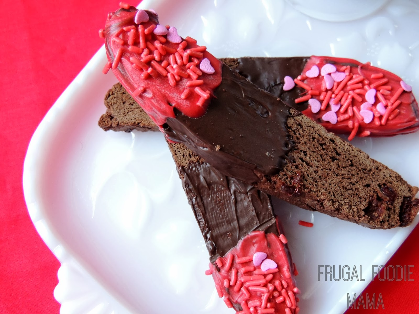 Frugal Foodie Mama: Double Chocolate Cherry Biscotti