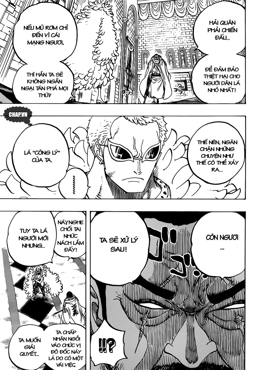 One Piece Chapter 735: Ý định của Fujitora 015