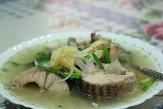 Minggu pertama memang me belasah sup ikan haruan sampai