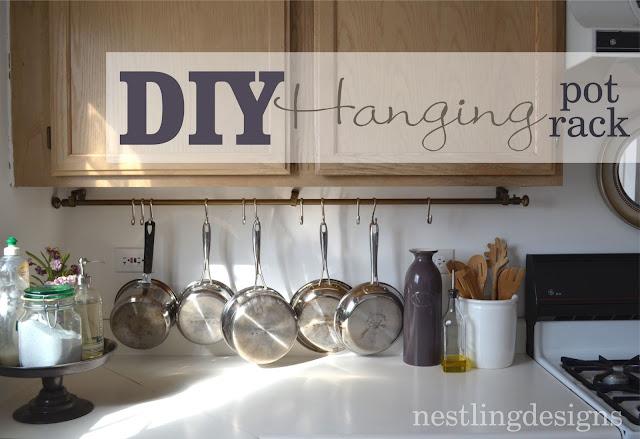 Nestling: One Room at a Time :: DIY Hanging Pot Rack
