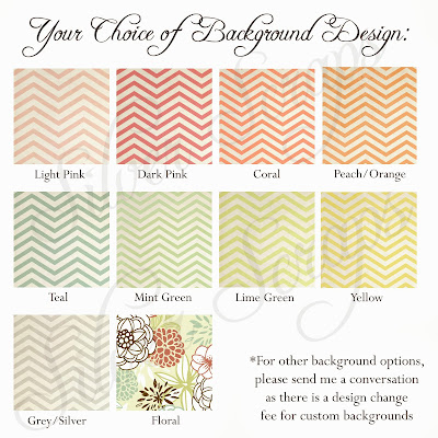 custom chevron birdcage thank you card