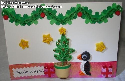 Aparador Antiguo Sevilla ~ Lika Hanyuu uff0d Artesanato Quilling [Quilling+Craft Punch] Cart u00e3o de Natal (Christmas Tree)