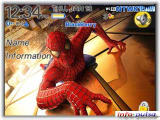 Tema Spiderman - BlackBerry Theme