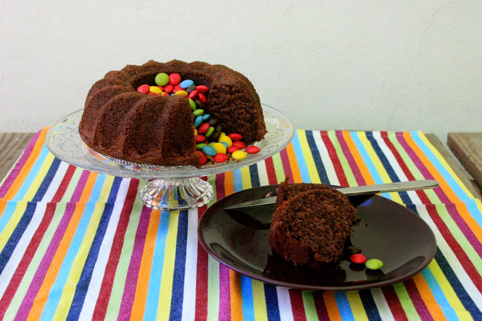 Bueníssimo bundt cake de chocolate para desayunar