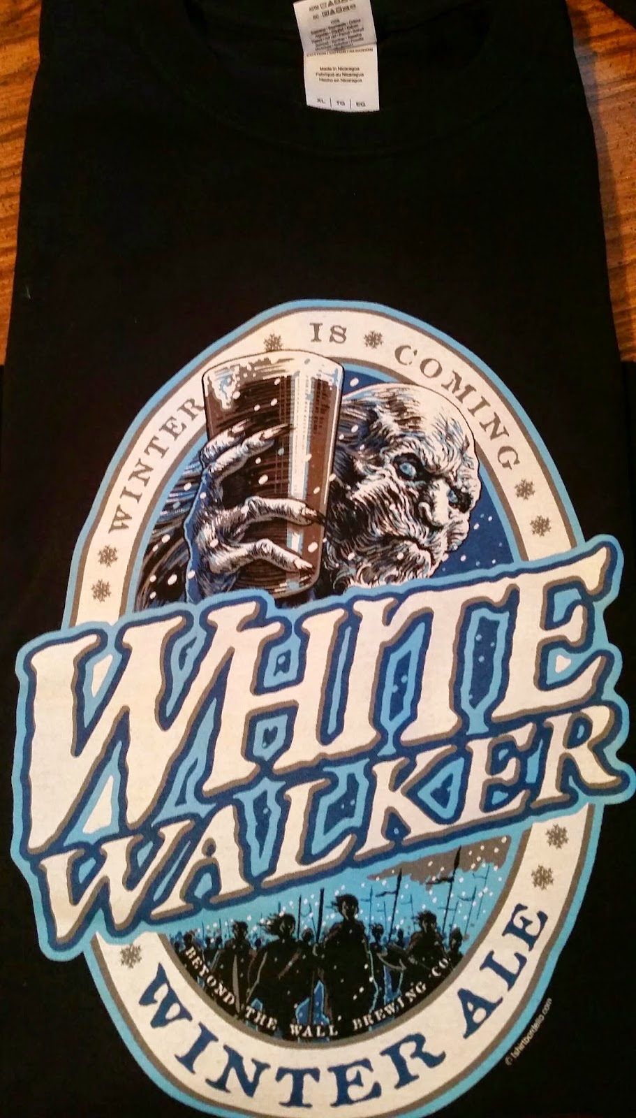 Game of Thrones white walker winter ale t-shirt