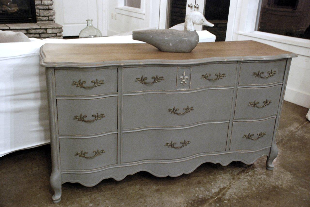 Wood top painted dresser diy pinterest Best color to paint dresser