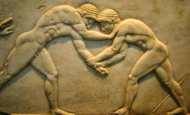 grecia, lucha,