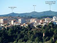 Panoràmica de Puig-reig i de les serres de Castellnou de Bages des de Galera