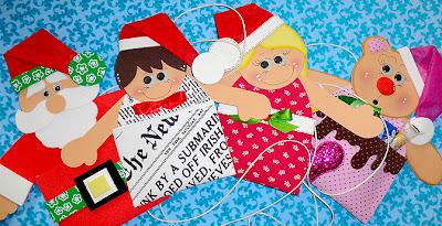 porta guloseimas de natal com EVA
