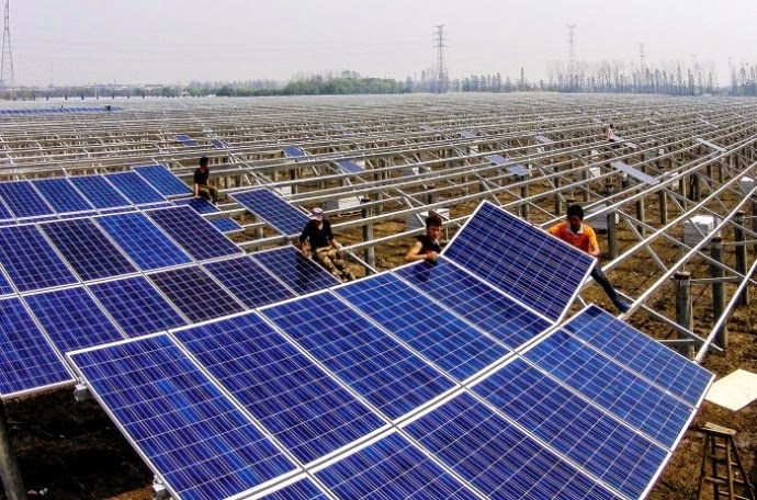 China invested over $90 billion in renewable energy such as wind and solar in 2014, diversifying its energy portfolio. (Credit: Shen ZC/Featurechina/Newscom) Click to Enlarge.
