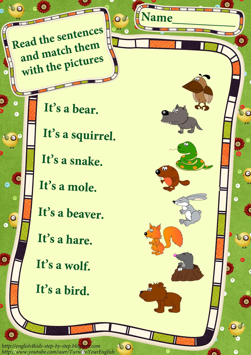 Forest Animals Worksheets – Animals Worksheets for Kindergarten