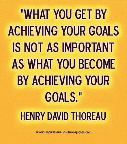 what you get by achieving your goals inspirational