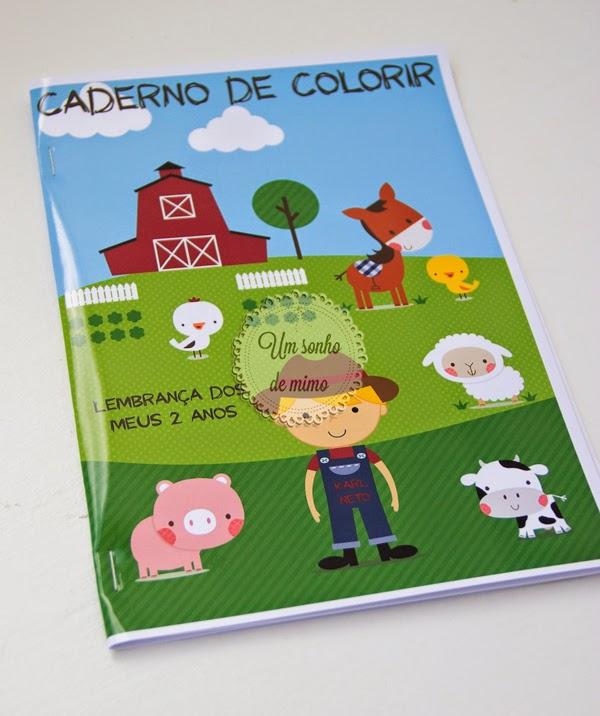 Caderno para colorir Um Sonho de Mimo