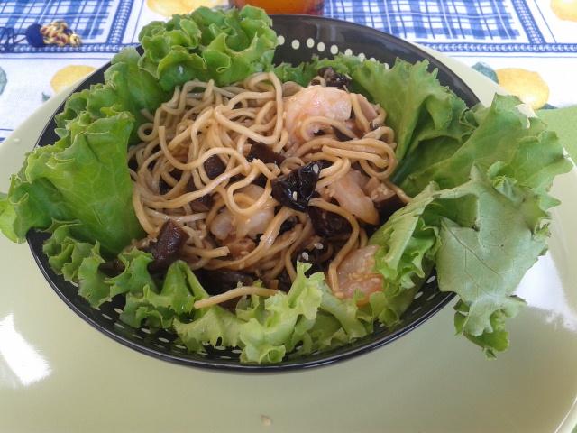 Cucinare c 39 est la joie de vivre noodles ai gamberetti for Cucinare noodles