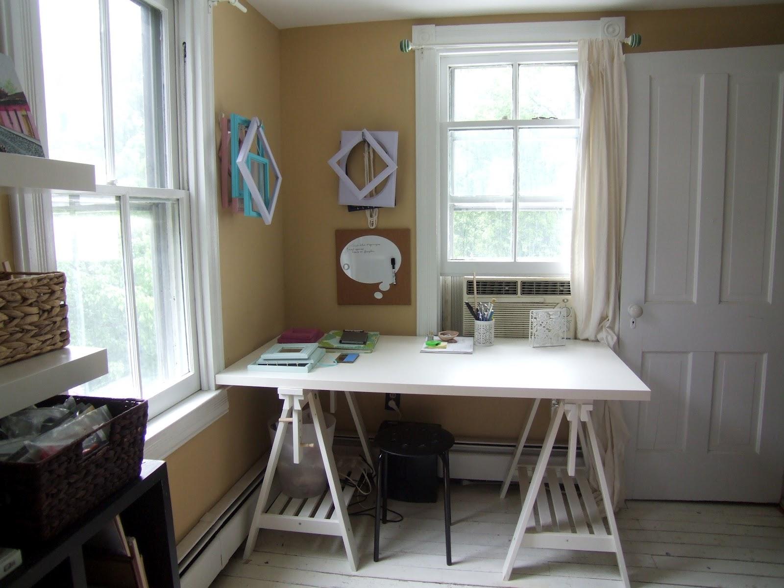 Craft room progress little victorian Home office guest room design ideas