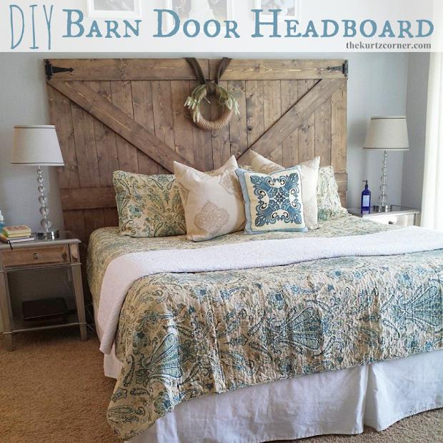 DIY Barn Door Headboard