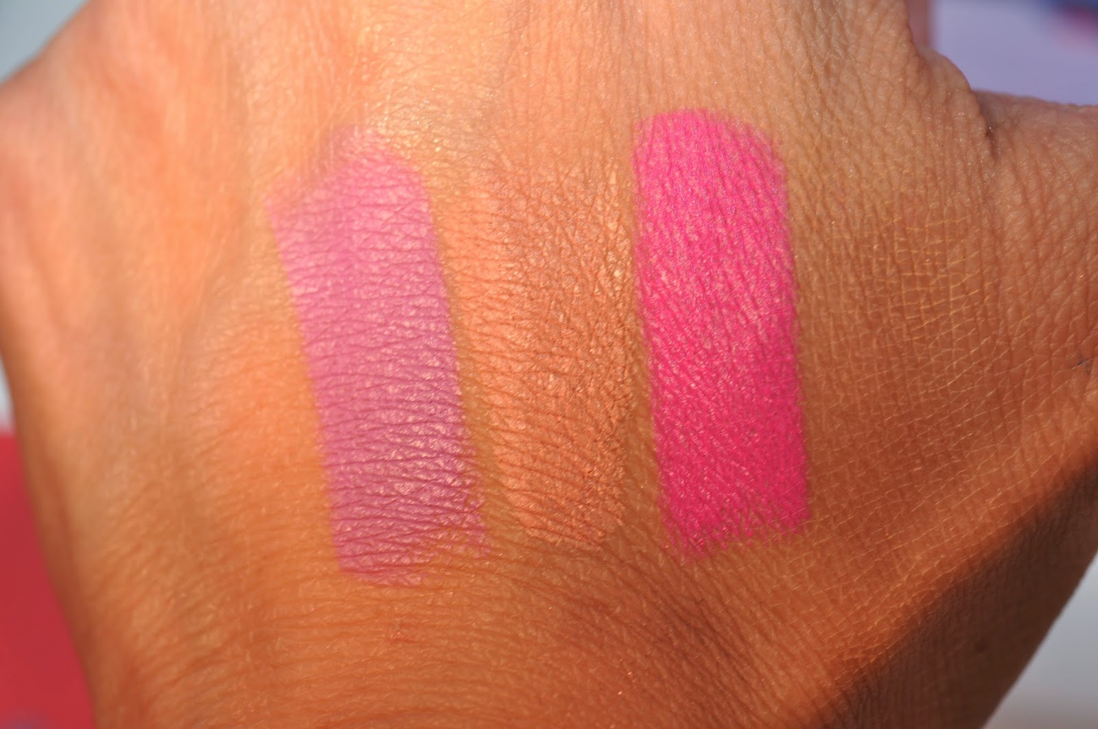 MAC Lipsticks in Dodgy Girl, Strip Poker, Candy YumYum