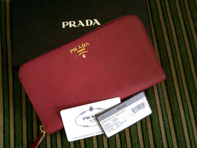 Prada Saffiano Wallet Ibisco