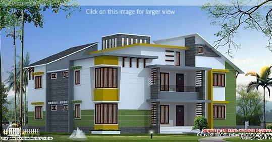 3500 Luxury Home Design Kerala Home Design And