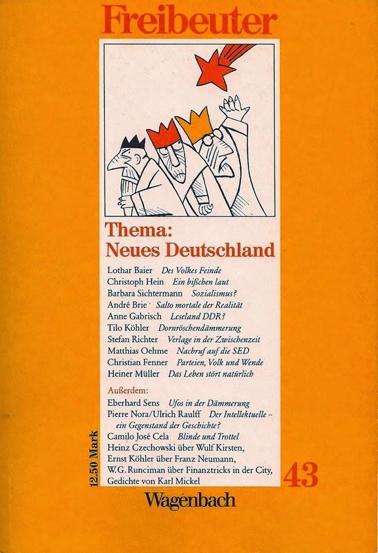 Zeitschrift Freibeuter Nummer 43, März, Frühling 1989, Verlag Klaus Wagenbach Berlin