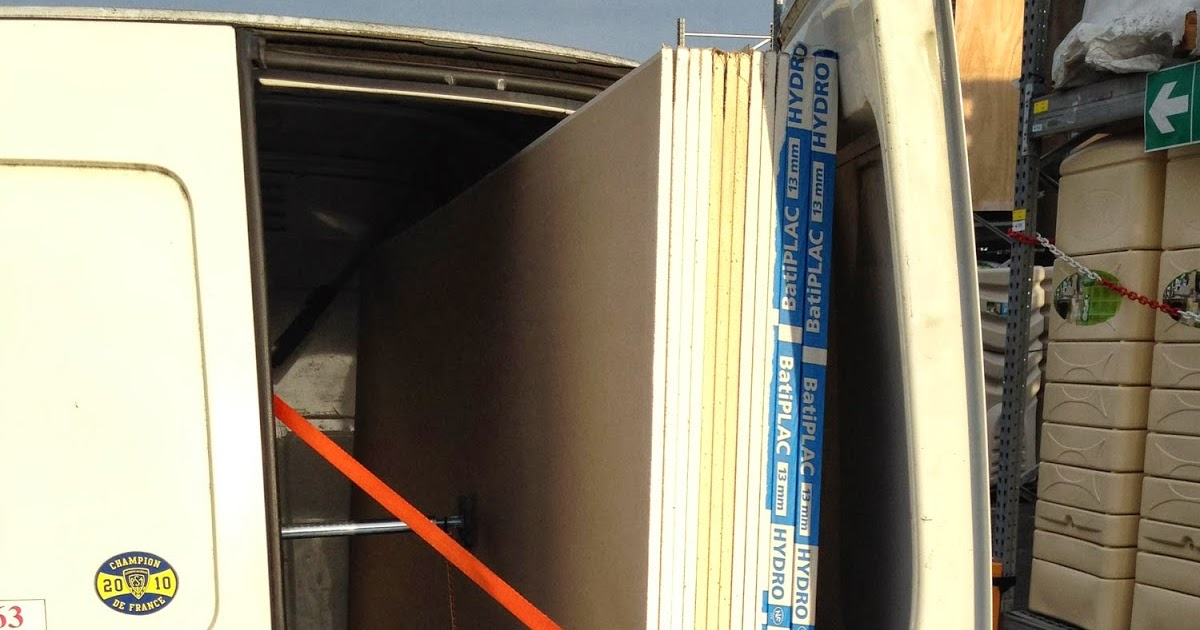 R novation de ma maison transport des plaques de placo for Plaque de placo prix