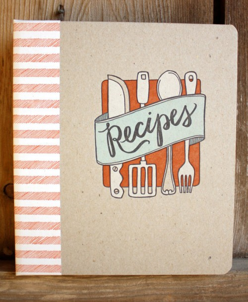 recipe book and cards
