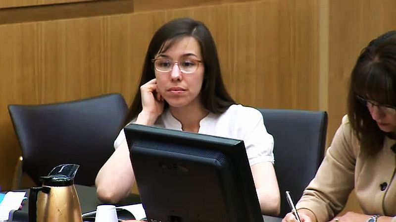 Jodi Arias appears in court on April 8, 2013