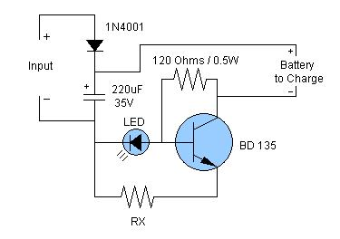 NiCd & NiMH Battery Charger Circuit