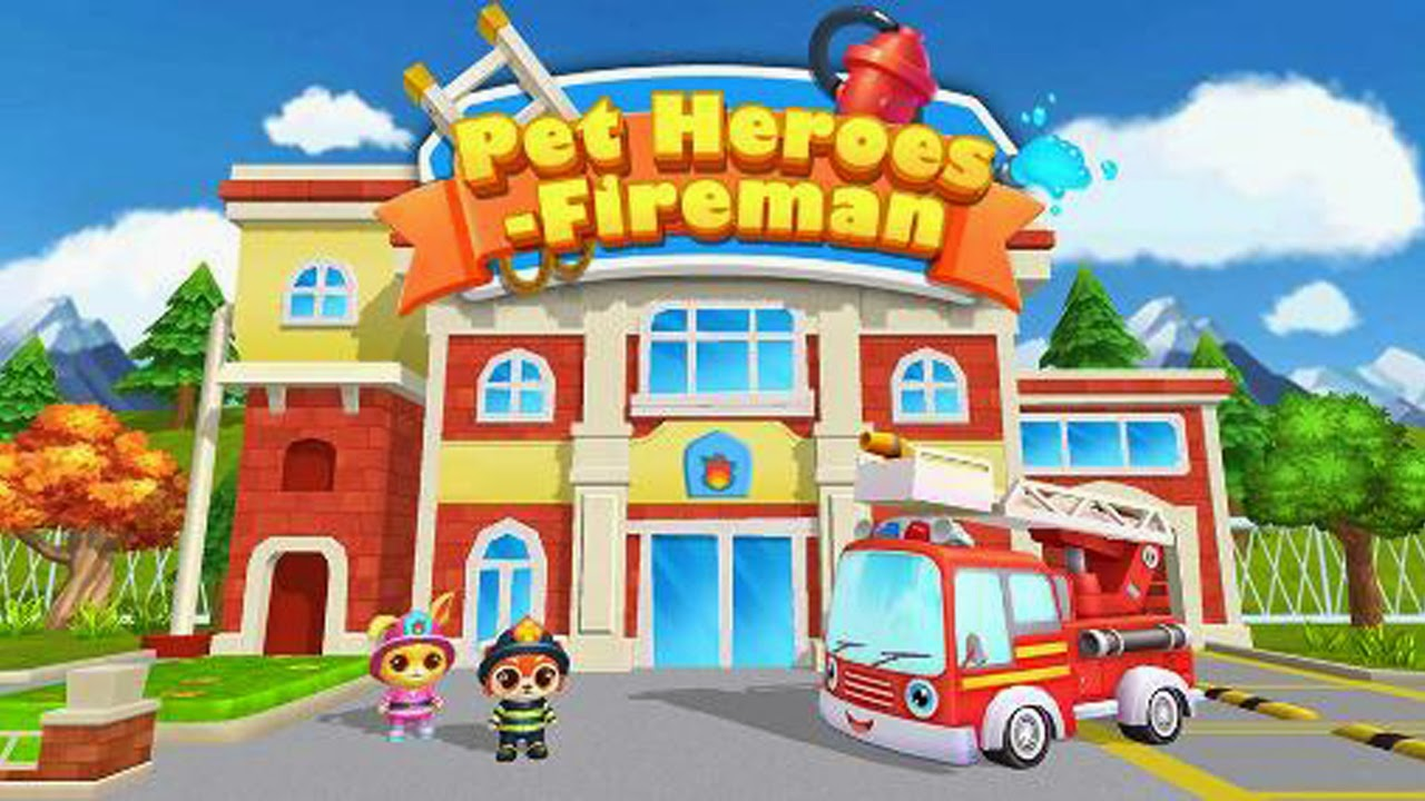 Pet Heroes: Fireman Gameplay IOS / Android